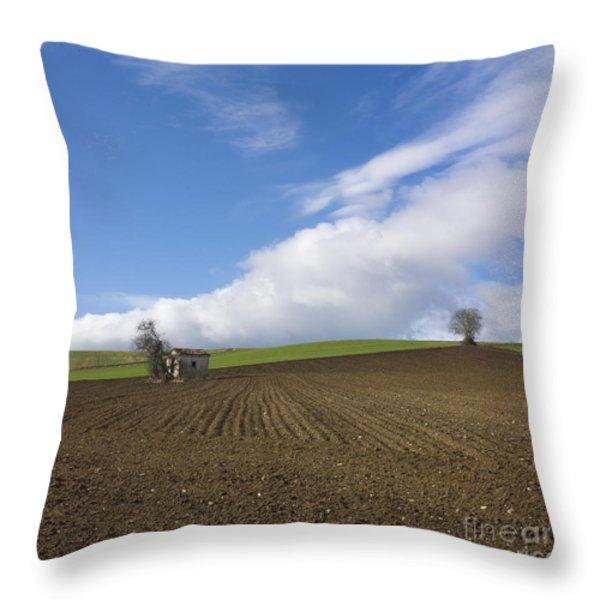 Landscape in France Throw Pillow by BERNARD JAUBERT
