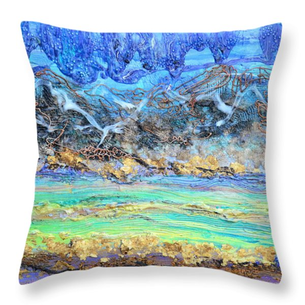 Landscape Layers Throw Pillow by Regina Valluzzi