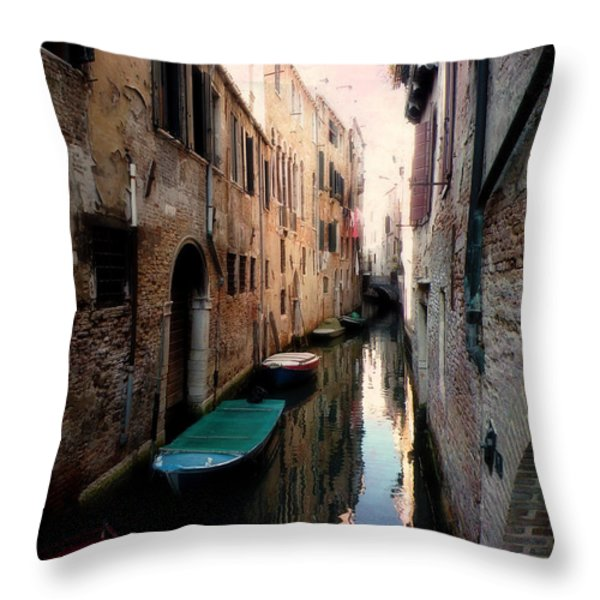 L'aqua Magica  Throw Pillow by Micki Findlay