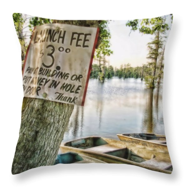 Launch Fee Throw Pillow by Scott Pellegrin