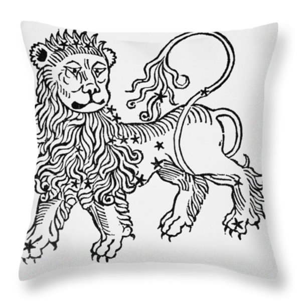 Leo An Illustration From The Poeticon Throw Pillow by Italian School