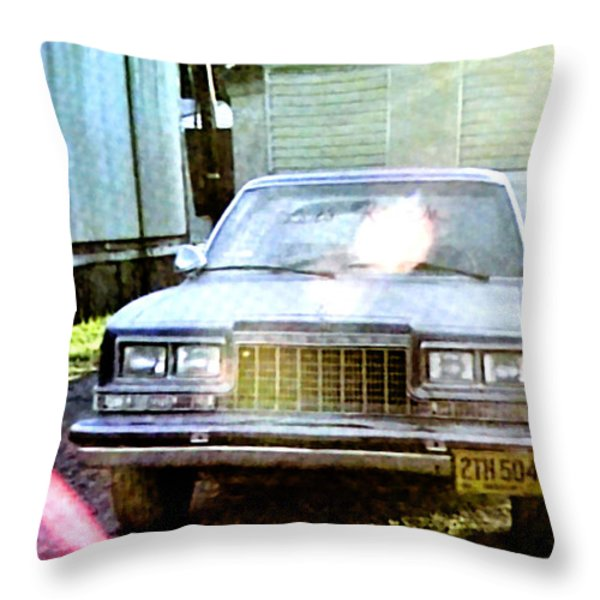 Lets Rock Throw Pillow by Luis Ludzska