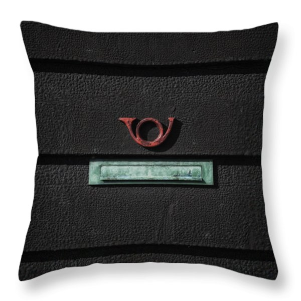 letter box Throw Pillow by Joana Kruse