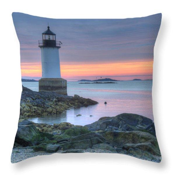 Lighthouse Throw Pillow by Juli Scalzi