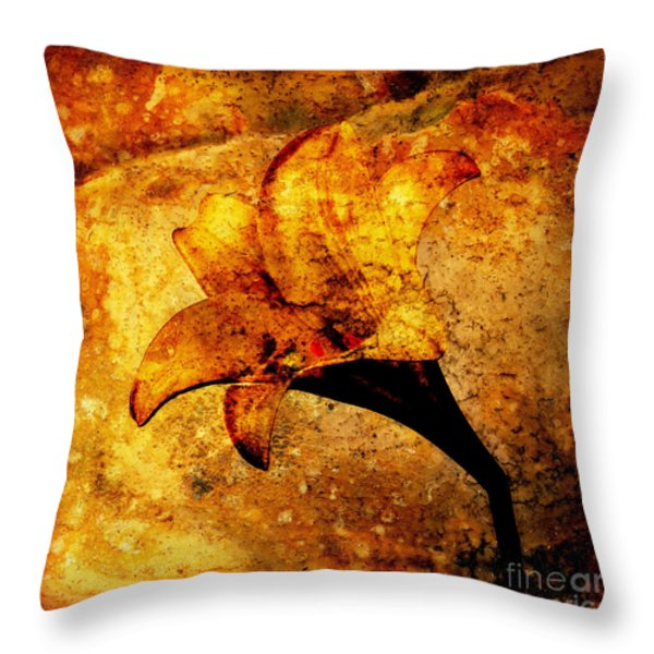 Lily Throw Pillow by Bernard Jaubert