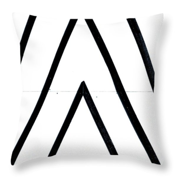 Lines Throw Pillow by A Rey