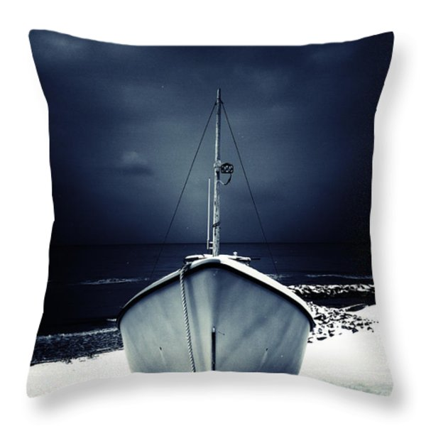 loneliness Throw Pillow by Stylianos Kleanthous