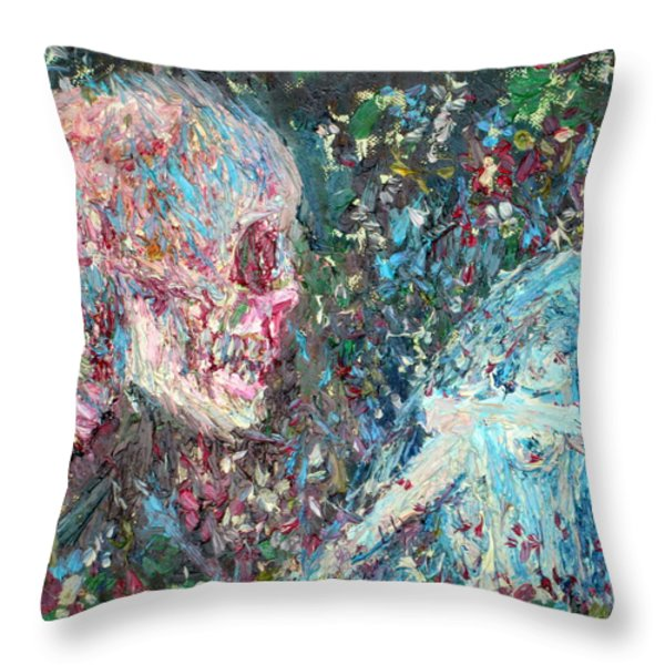 LOVE CANNOT LIVE BY HEAVENLY FOOD ALONE Throw Pillow by Fabrizio Cassetta