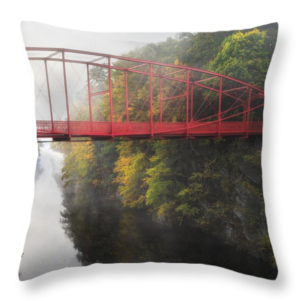 Lovers Leap Bridge Throw Pillow by Bill Wakeley