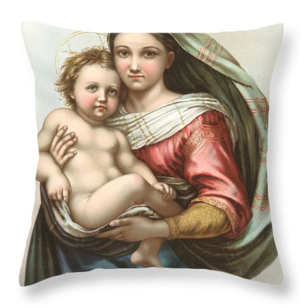 Madonna And Child Throw Pillow by Gary Grayson
