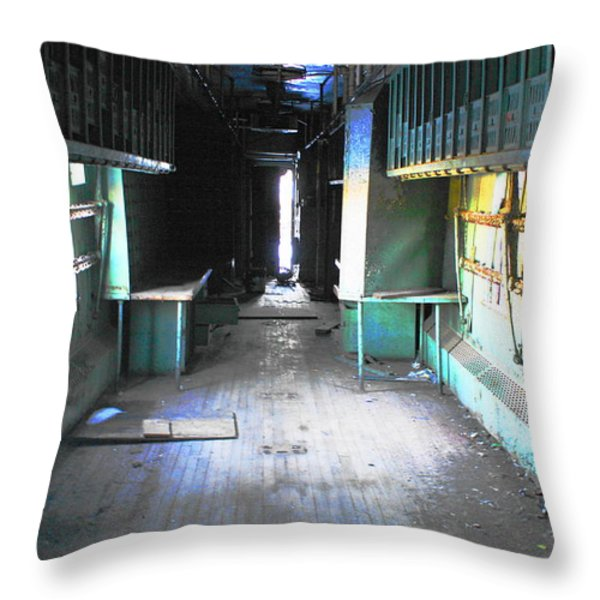 Mailroom Throw Pillow by Sarah Kasper