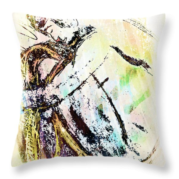 Male Nude Throw Pillow by M and L Creations