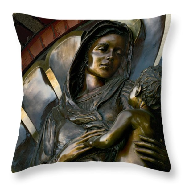 Mary And Jesus Throw Pillow by Daniel Hagerman