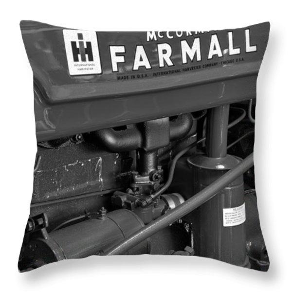 Mc Cormick Farmall Super C Throw Pillow by Susan Candelario