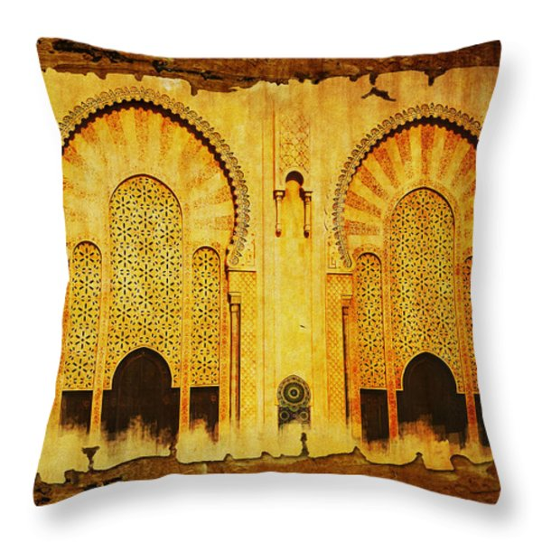 Medina of Faz Throw Pillow by Catf