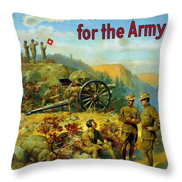 Men Wanted For The Army Throw Pillow by War Is Hell Store