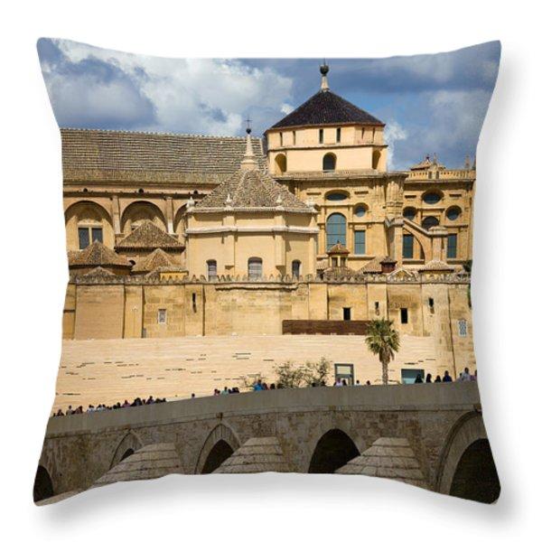 Mezquita Cathedral in Cordoba Throw Pillow by Artur Bogacki