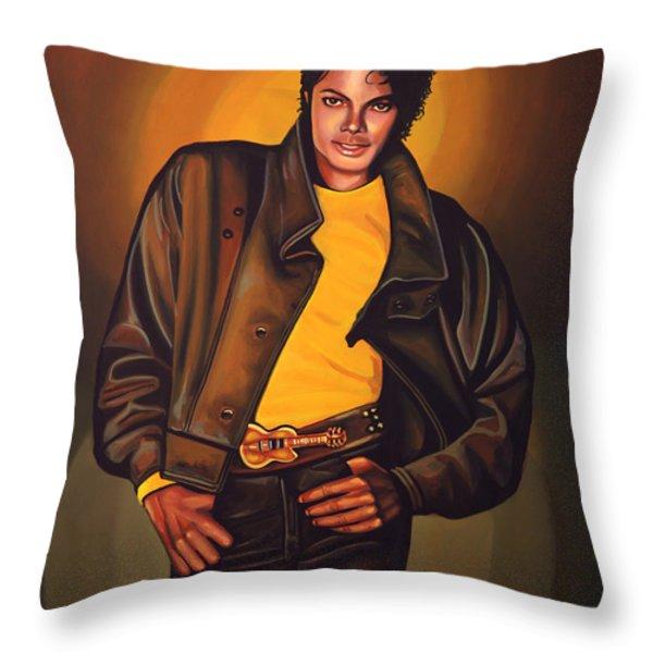 Michael Jackson Throw Pillow by Paul  Meijering