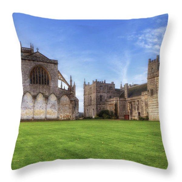 Milton Abbey Throw Pillow by Joana Kruse