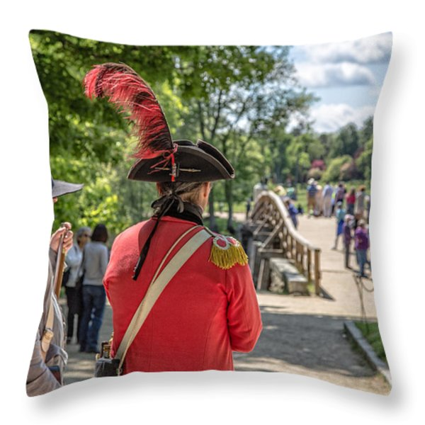 MINUTE MAN NATIONAL HISTORICAL PARK Throw Pillow by Edward Fielding