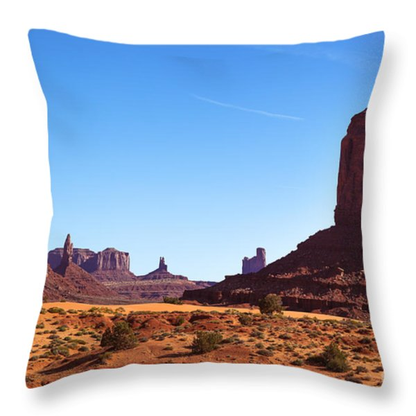 Monument Valley Landscape Throw Pillow by Jane Rix
