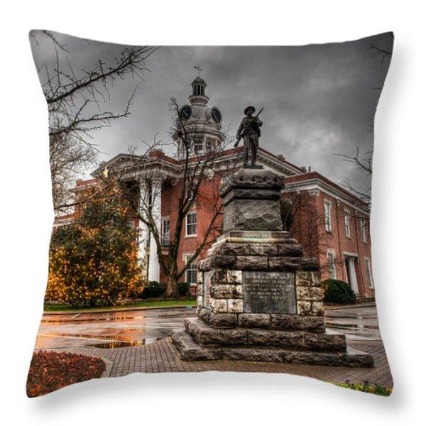 Murfreesboro Town Hall Throw Pillow by Brett Engle