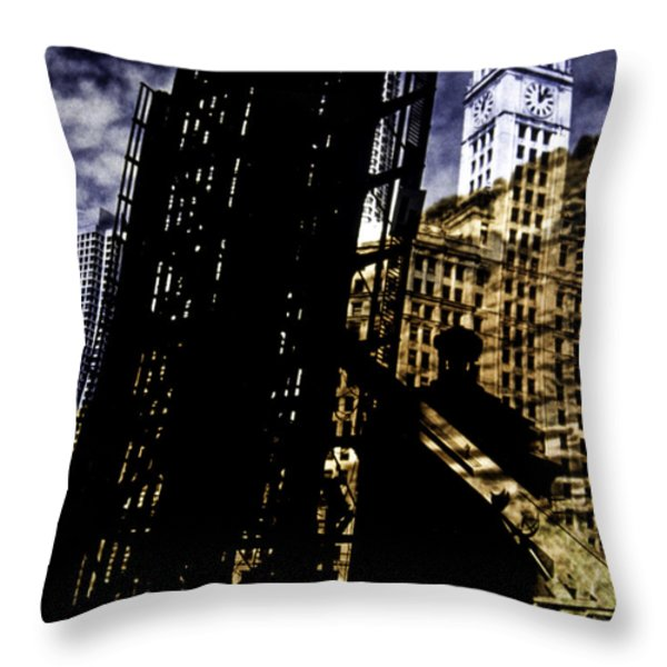 My Two Worlds Spires Throw Pillow by Paul Shefferly