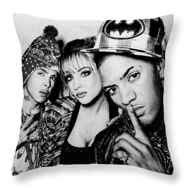 N Dubz Throw Pillow by Andrew Read