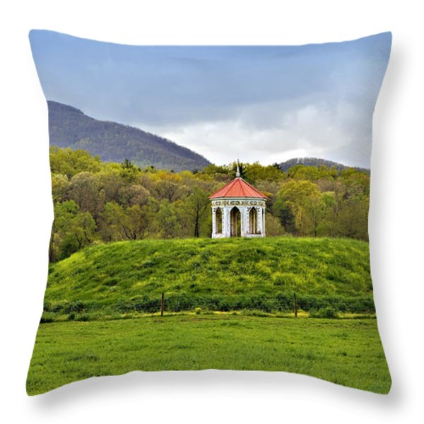 Nacoochee Indian Mound Throw Pillow by Susan Leggett