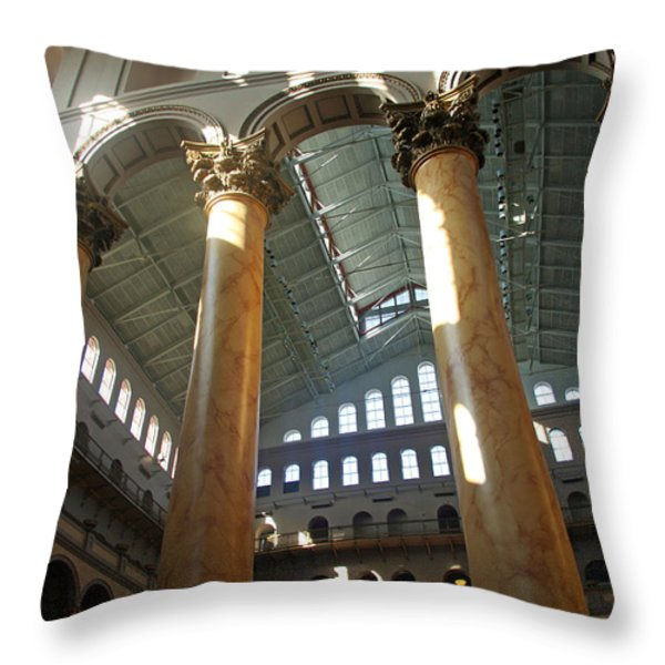 National Building Museum Throw Pillow by Cora Wandel