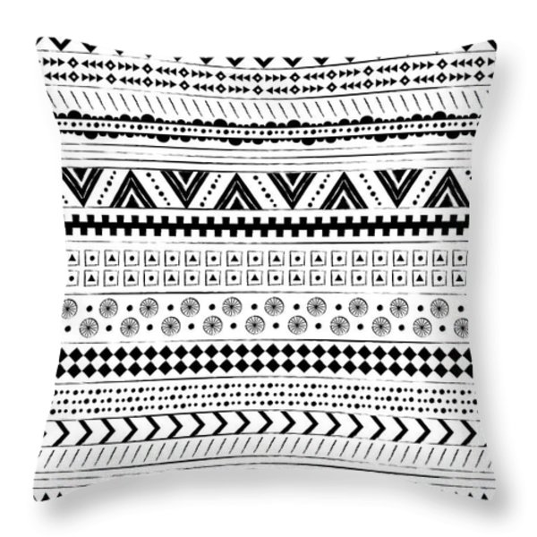 Navajo Surf Repeat Print Throw Pillow by Susan Claire