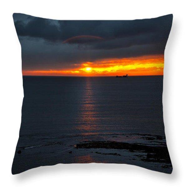 Northumbrian Day Break Throw Pillow by Jim Jones