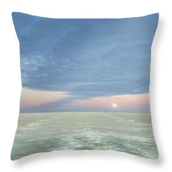 Norwegian Pearl Throw Pillow by John  Poon