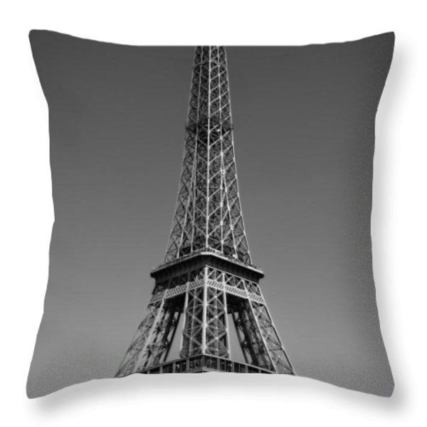 Not a Cloud In Paris Throw Pillow by Kamil Swiatek