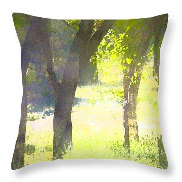 Oaks 25 Throw Pillow by Pamela Cooper