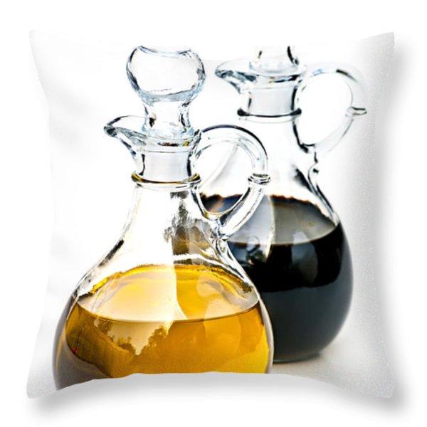 Oil and vinegar Throw Pillow by Elena Elisseeva
