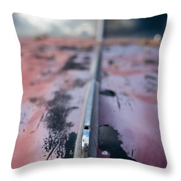Old Junker Car Throw Pillow by Edward Fielding