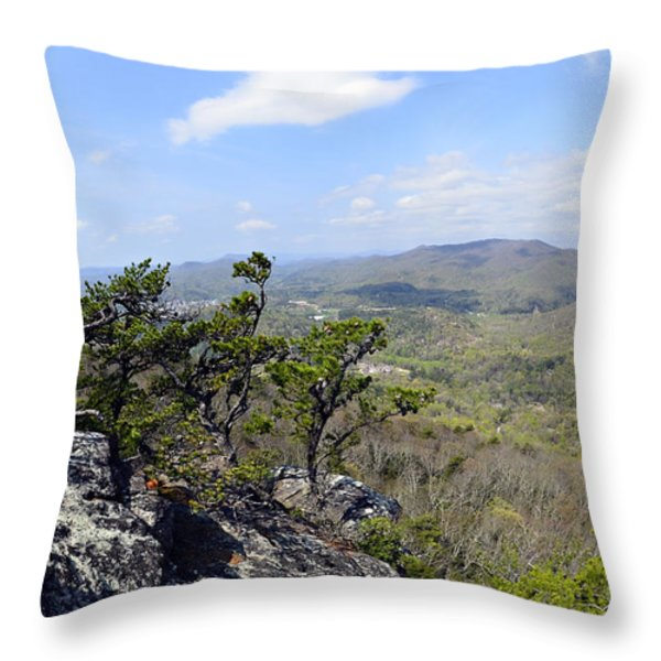 On the Edge Throw Pillow by Susan Leggett