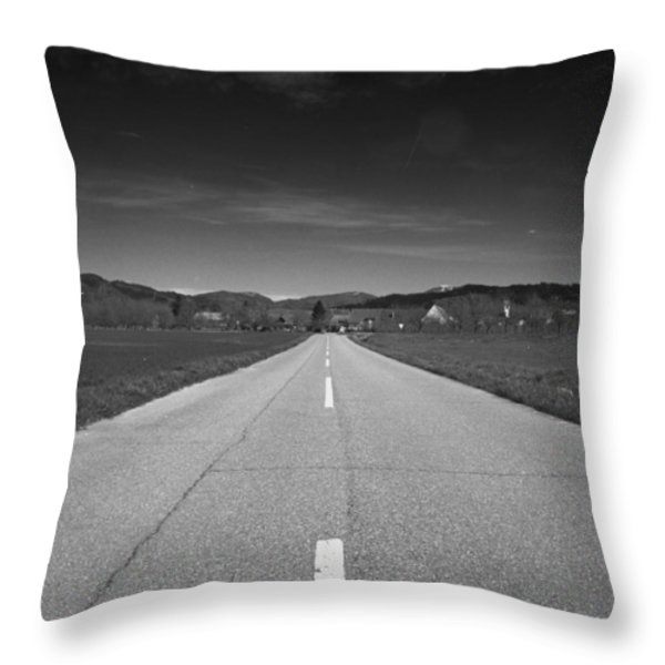 On The Road Throw Pillow by Marcio Faustino