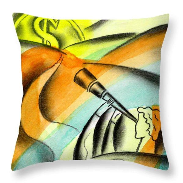 Opportunity Throw Pillow by Leon Zernitsky