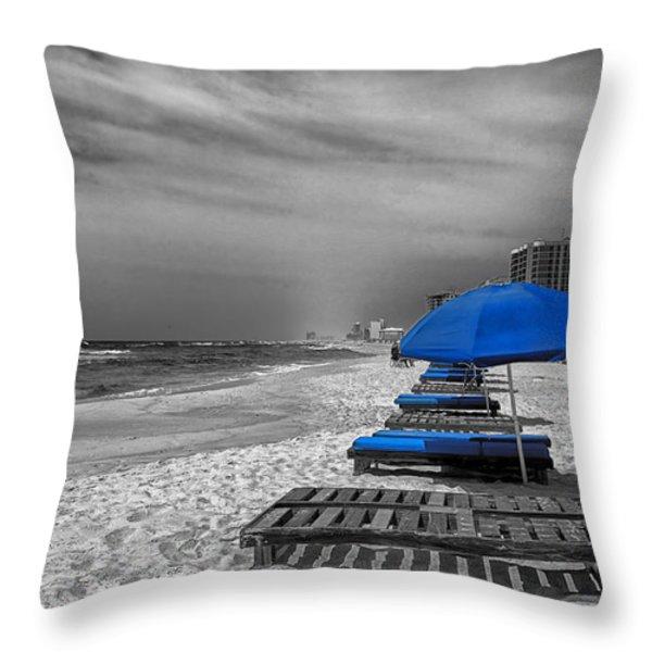 Orange Beach in Alabama Throw Pillow by Mountain Dreams