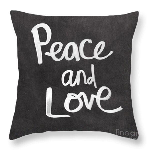 Peace and Love Throw Pillow by Linda Woods