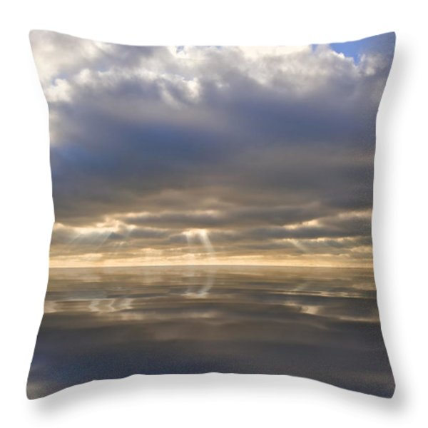 Peace Throw Pillow by Matthew Gibson