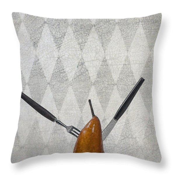 Pear Throw Pillow by Joana Kruse