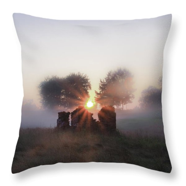 Philadelphia Cricket Club at Sunrise Throw Pillow by Bill Cannon