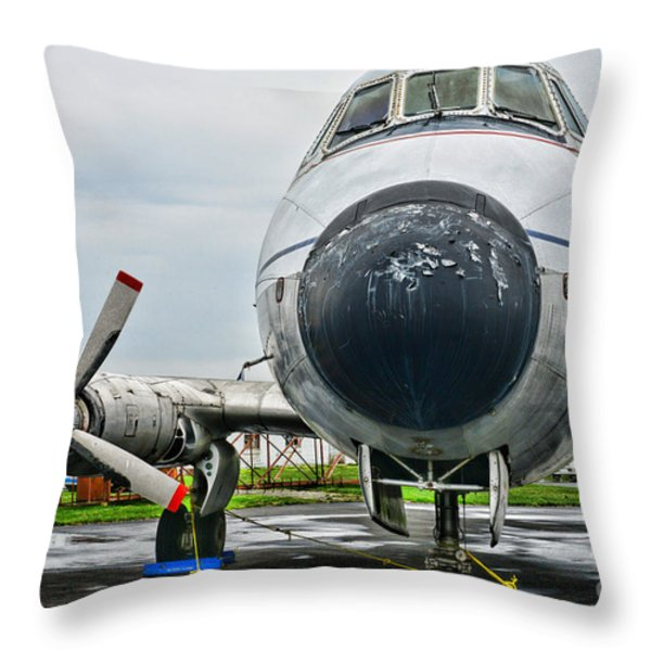 Plane Noses Up Throw Pillow by Paul Ward