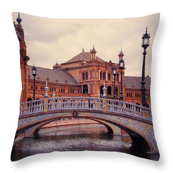Plaza de Espana. Seville Throw Pillow by Jenny Rainbow