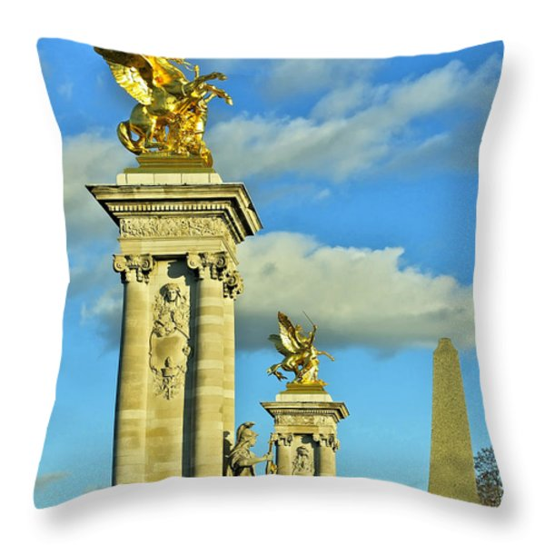 Pont Alexandre III Throw Pillow by Mountain Dreams