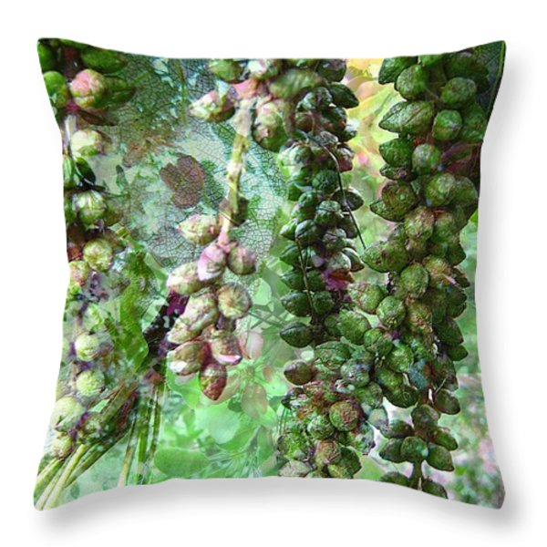 Poplar Secrets Throw Pillow by Shirley Sirois