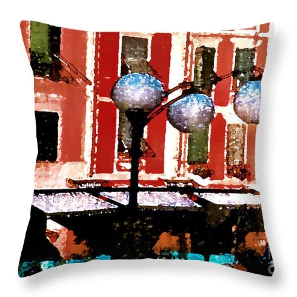 Portofino Cafe Throw Pillow by Barbara D Richards